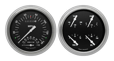 Classic Instruments 51-52 Chevy Car Package w/ Hot Rod Gauges Dash Insert Tach
