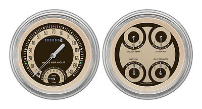 Classic Instruments 51-52 Chevy Car Package w/ Nostalgia VT Gauges Dash Insert