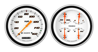 Classic Instruments 51-52 Chevy Car Package w/ Velocity White Gauges Dash Insert
