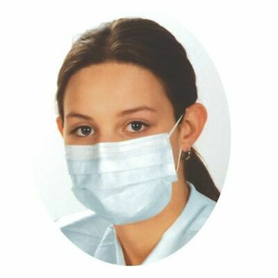 Quality 3Ply Looped Surgery Procedure Face Masks Non Tied Protectors Dust