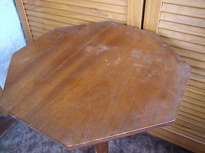 octagonal wooden table