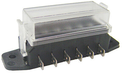 6 Way Blade Fuse Box With Transparent Cover