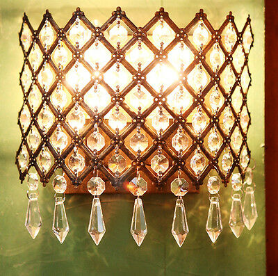 New Steel Crystals Lamp Antique Wall Sconce Light Modern Pendants Chandelier At