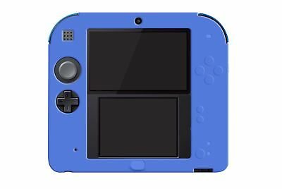 Hellfire Trading 2DS Blue Silicone Soft Cover Rubber Gel Skin Case
