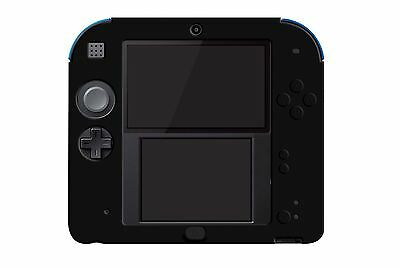Hellfire Trading 2DS Black Silicone Soft Cover Rubber Gel Skin Case
