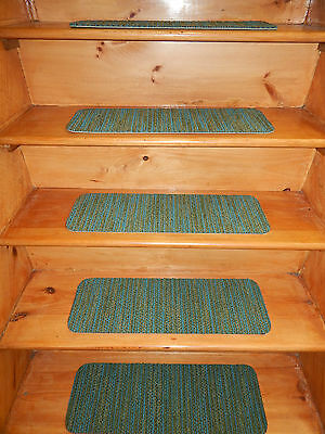 """13-Step= 8"""" x 24'' Indoor Outdoor Stair Treads Non Slip Staircase  Rug Carpet"""