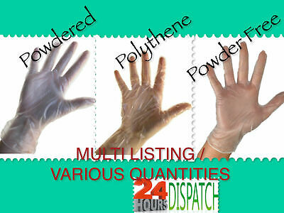 Disposable Gloves Vinyl Powder Free Latex Free, Powdered Or Polythene 1-2000