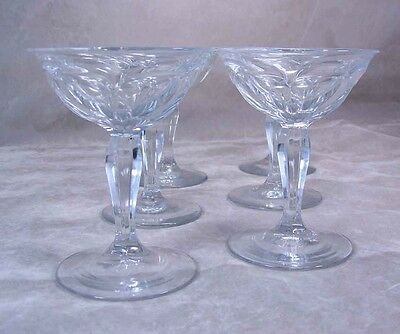 Antique Heisey Glass Colonial Liquor Cocktail 3 OZ #359 Lot (6) Crystal Marked