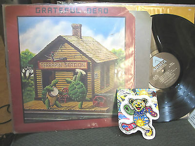 Grateful Dead lp Terrapin Station orig '77 jerry garcia al7001 +lrg bear sticker