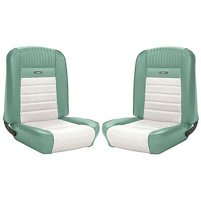1964 1965 1966 Mustang Convertible Front Rear Seat Covers Turquoise White Pony