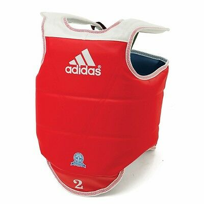 ADIDAS WTF APPROVED TAEKWONDO REVERSIBLE CHEST GUARD PROTECTOR-FROM US SELLER