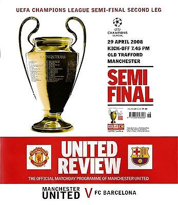 MANCHESTER UNITED v BARCELONA Champions League Semi-Final 2nd Leg 2007/08 MINT