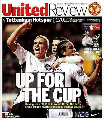 MANCHESTER UNITED v TOTTENHAM HOTSPUR FA Cup 4th Round 2007/08 MINT