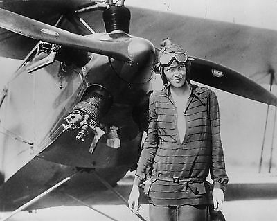 Amelia Earhart Historic Aviator 8X10 Glossy Photo Picture Photograph