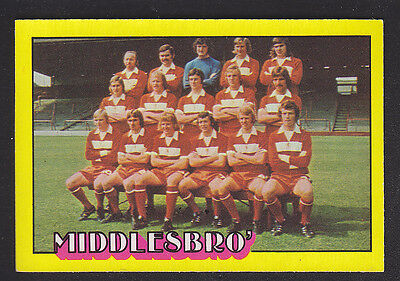 A&BC - Footballers (Red Back) 1974 - # 94 Middlesbrough Team Group