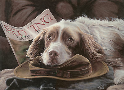 "ENGLISH SPRINGER SPANIEL ESS GUN DOG LIMITED EDITION PRINT ""My Favourite Things"""
