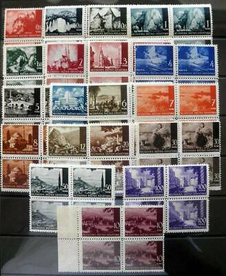 Croatia 1941-1943 Pictorial Definitives 19 Values  Muh- Blocks Of 4 - 76 Stamps