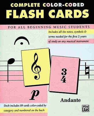 Complete Color Coded Flash Cards for All Beginning Music Students by Alfred Publ
