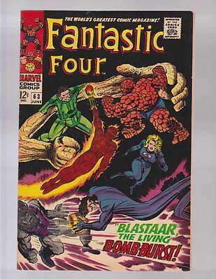 Fantastic Four # 63 Blastaar the Living Bomb-Burst grade 8.5 scarce hot book !!