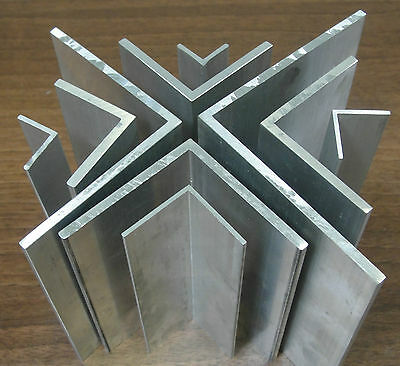 "1 Mtr x Extruded Aluminium Equal Angle 1000mm Lengths sizes fron 1/2"" to 4"""