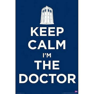 DR WHO - KEEP CALM POSTER - 24x36 SHRINK WRAPPED - TV SHOW BBC 5385