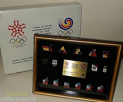 RARE Coffret PIN'S J.O.  numéroté KODAK Official Sponsor of OLYMPIC GAMES 1988