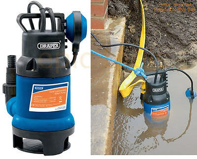DRAPER Electric 750W Submersible Dirty/Clean Water Pump With Float Switch 61667