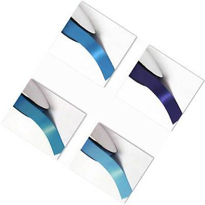 "Double Faced Satin Ribbon 1-1/2"" /38mm. 5 Yards,Lot Blue s #303 to #350"