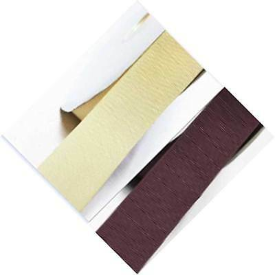 """5 Yards Grosgrain Ribbon 3/4"""" /19mm Wedding Ivory to Brown for bow"""