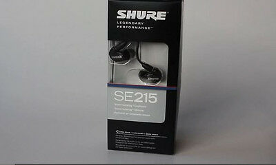 Shure SE215-K Earphones w/Sound Isolating Design, Detachable Cable, Case