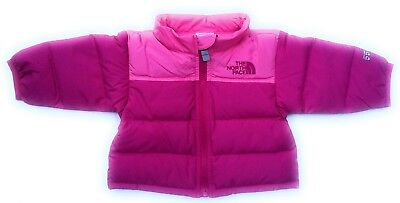dba42c658c The North Face Baby Infant Girls Nuptse 550 Fill Down Goose Jacket Coat 0-3M