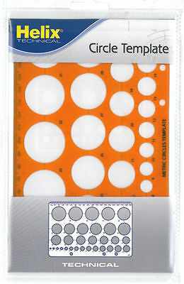 Helix H67 Circle Template Stencil 3-34mm