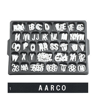 """1"""" White Changeable Sign Plastic Letters Menuboard"""