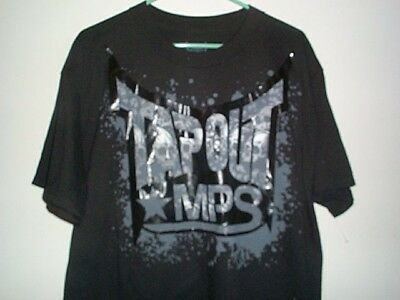 Brand New Mens TAPOUT BLACK MPS UFC MMA T-SHIRT Size Adult Large