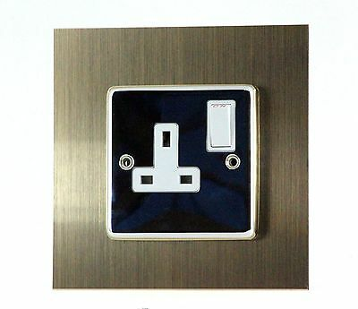 SINGLE Light Switch Single Plug Socket - SURROUND Available in 5 types of METAL