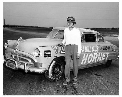 1952 Hudson Hornet NASCAR Race Car Factory Photo Herb Thomas  c5888-2KQF7W