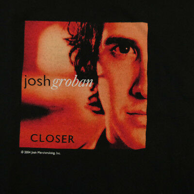 JOSH GORBAN CLOSER 2004 CONCERT TOUR TEE T SHIRT Sz Mens M