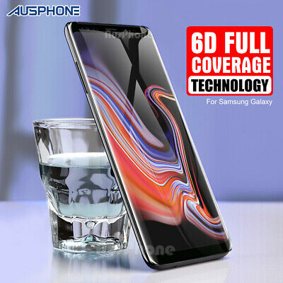 Galaxy S8 S9 Plus Note 9 8 6D Full Cover Tempered Glass Screen Protector Samsung