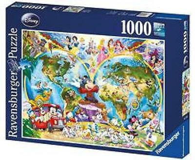 Ravensburger Disney World Map 1000 piece jigsaw puzzle NEW