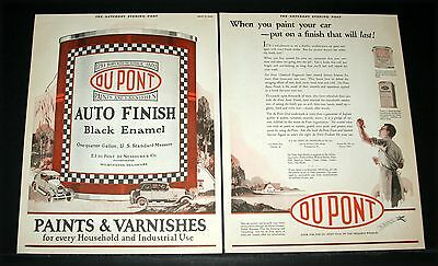 1925 Old Magazine Print Ad, Du Pont Auto Paints, A Finish That Will Last, Art!