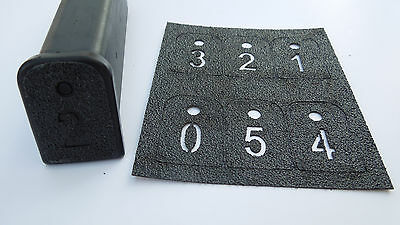 Glock Decal Grip Tape for Factory Magazines - Numbered 0-5