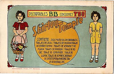 SHIRLEY TEMPLE ,Paper Doll, '30s, Spain by TBO, Tinez artist