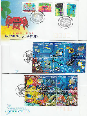 Stamp Christmas Island Australia various issues on group of 12 FDC's
