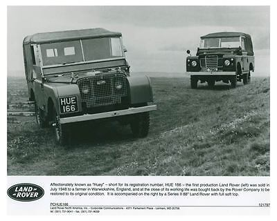 1988 Land Rover Hue 166 And Series II 88 Automobile Factory Photo ch4214