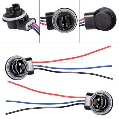 2X Connector Harness Plugs Sockets For Standard 3157 3057 3457 Brake Signal Bulb