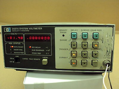 System Voltmeter, Hewlett Packard 3437A; HPIB interface; not DOA
