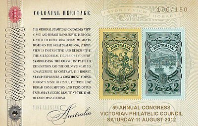Stamps Australia Colonial Heritage mini sheet overprinted 59th VPC congress MUH