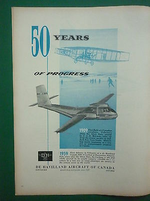 1959 Pub De Havilland Dhc-4 Caribou Silver Dart Bad Deck Bay First Flight Ad