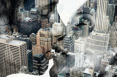 NEW YORK CITY - PASSION COUPLE COLLAGE POSTER - 24x36 NYC MANHATTAN 23203
