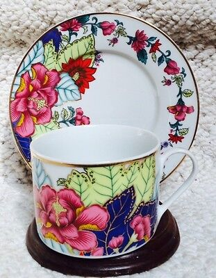 IMPERIAL LEAF Tobacco Leaf CHINA Cup & Saucer (s) Made in China EXCELLENT